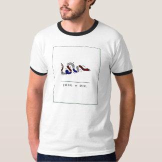 Ringer Shirt : Historic Join or D I E Graphic