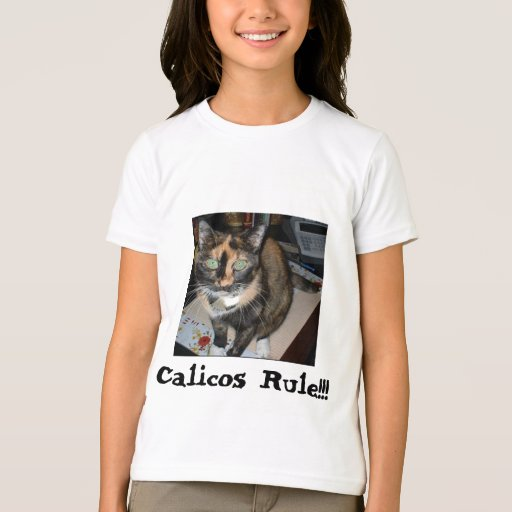 """Ringer T """" Calicos Rule!!!"""" T-Shirt"""