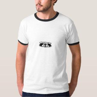 Ringer T-Shirt, White/Black - Route 66 T-Shirt