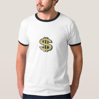 Ringer Tee with Big Yellow Dollar Sign