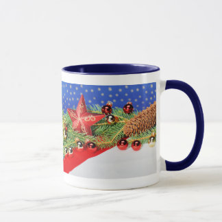 Ringertasse blue glad Christmas Mug