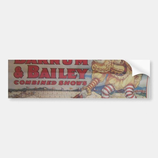 Ringing Bros and Barrum & Bailey Vintage Theater Bumper Stickers