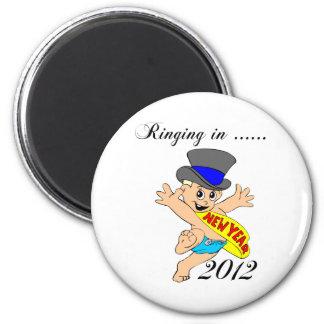 Ringing in New Year 2012 Fridge Magnet