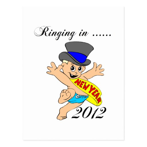 Ringing in New Year 2012 Postcard