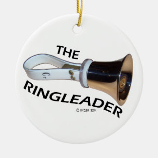 Ringleader Double-Sided Ceramic Round Christmas Ornament