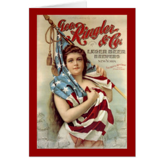 Ringler and Co Lager Beers Vintage Americana Greeting Card