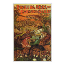 Ringling Bros and Barnum & Bailey Combined Shows Poster