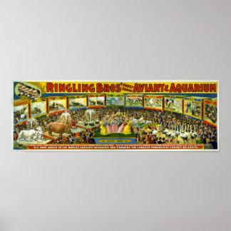 Ringling Bros' / Aviary & Aquarium Poster