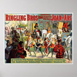 Ringling Bros. enorme espectáculo 1200 del carácte Posters