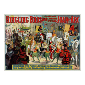Ringling Bros. enorme espectáculo 1200 del carácte Póster