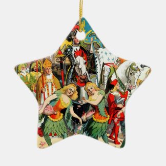 Ringling Bros: Joan of Arc Double-Sided Star Ceramic Christmas Ornament
