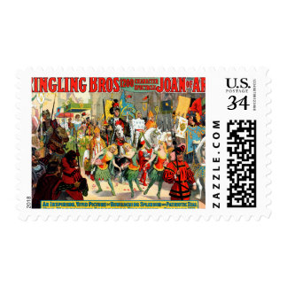 Ringling Bros: Joan of Arc Postage Stamp