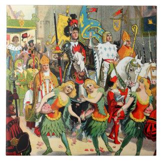 Ringling Bros: Juana de Arco Azulejo Cuadrado Grande