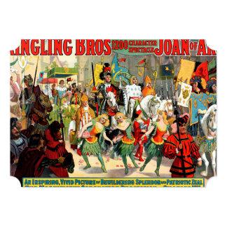 "Ringling Bros: Juana de Arco Invitación 5"" X 7"""