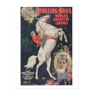 Ringling Bros. / Madam Ada Castello Postcard