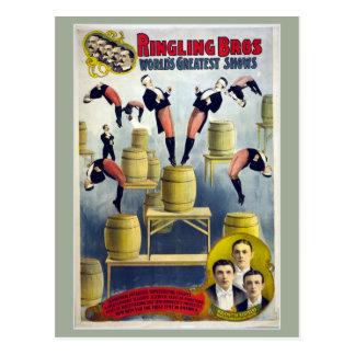 Ringling Bros Vintage Circus Postcard