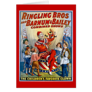 Ringling Brothers & Barnum & Bailey Vintage Clown Card
