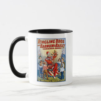 Ringling Brothers & Barnum & Bailey Vintage Clown Mug