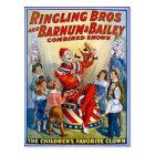Ringling Brothers & Barnum & Bailey Vintage Clowns Postcard