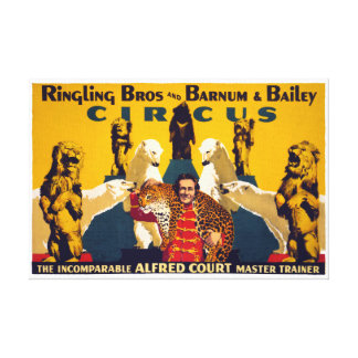Ringling Brothers & Barnum & Bailey Vintage Poster Canvas Print