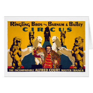 Ringling Brothers & Barnum & Bailey Vintage Poster Card