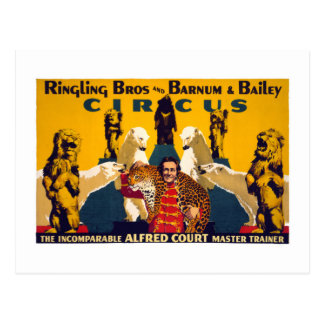 Ringling Brothers & Barnum & Bailey Vintage Poster Postcard