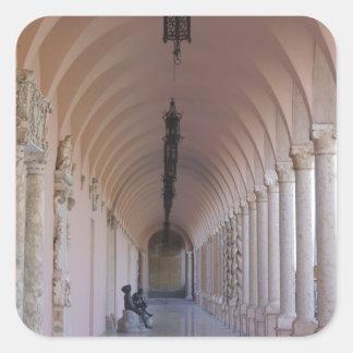 Ringling Corridor Square Sticker