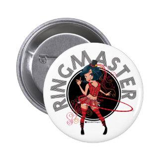 Ringmaster (Brunette) 2 Inch Round Button