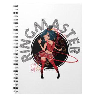 Ringmaster (Brunette) Spiral Notebook