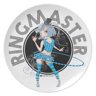 Ringmaster (Silver) Melamine Plate