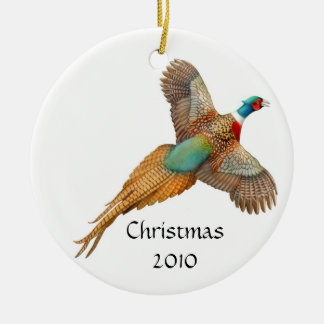 Ringneck Pheasant Customizable Ornament