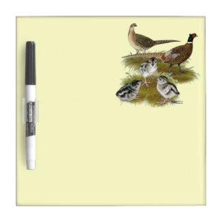 Ringneck Pheasant Family Dry Erase Board