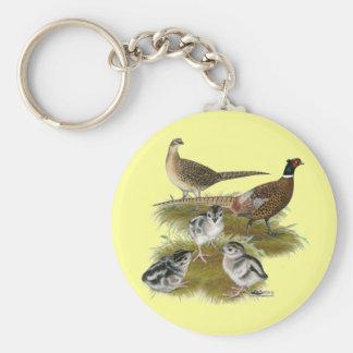 Ringneck Pheasant Family Keychain