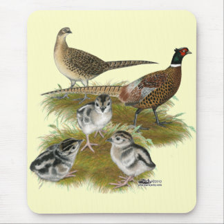 Ringneck Pheasant Family Mouse Pad