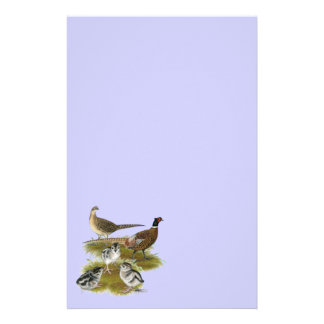 Ringneck Pheasant Family Personalized Stationery