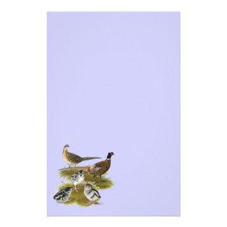 Ringneck Pheasant Family Stationery