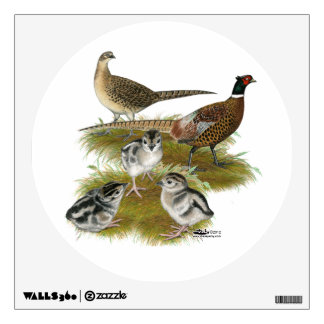 Ringneck Pheasant Family Wall Sticker