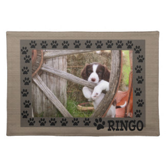 Ringo and the Wagon Wheel Dog Placemat