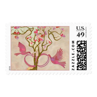 Rings and birds postage