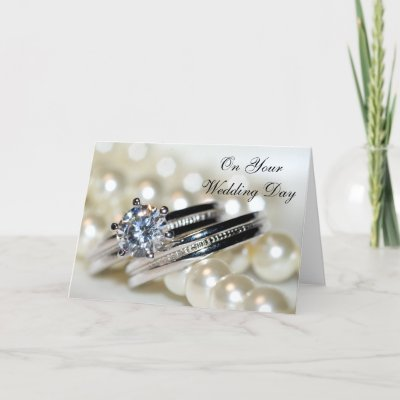 Rings and Pearls Blended Family Second Wedding Greeting Card by loraseverson