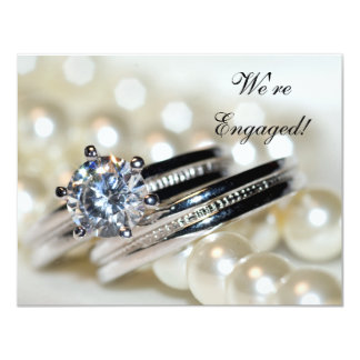 Rings and Pearls Engagement Party Invitation