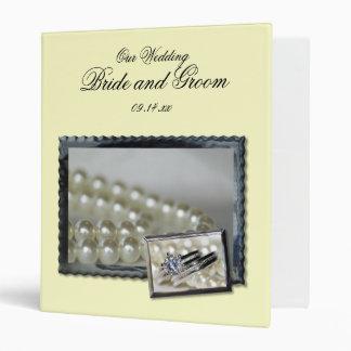 Rings and Pearls Wedding Binder