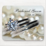 Rings and Pearls Wedding Mousepad