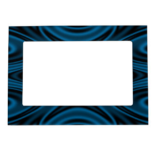 Rings and Ripples Blue Magnetic Photo Frame