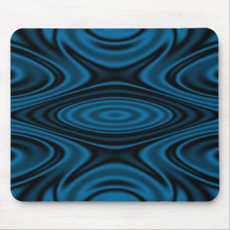 Rings and Ripples Blue Mouse Pad