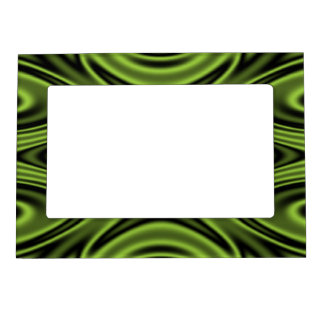 Rings and Ripples Lime Green Magnetic Photo Frame