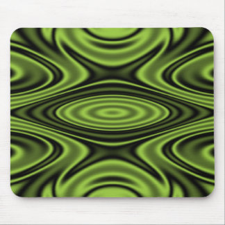 Rings and Ripples Lime Green Mouse Pad