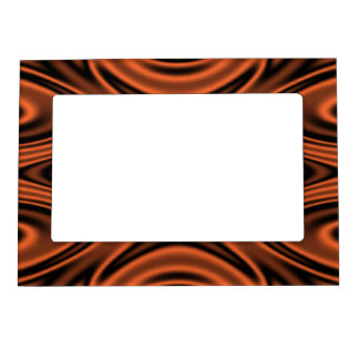 Rings and Ripples Orange Magnetic Picture Frame