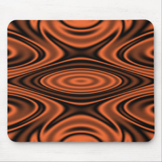 Rings and Ripples Orange Mousepads
