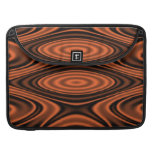 Rings and Ripples Orange Sleeve For MacBook Pro